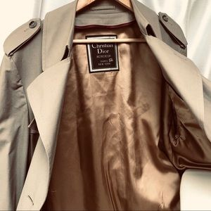 Christian Dior 42R Mens Beige Long trench coat